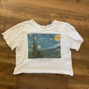 Cropped starry night Tee